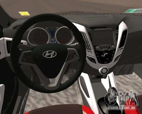 Hyundai Veloster 2013 para GTA San Andreas vista traseira