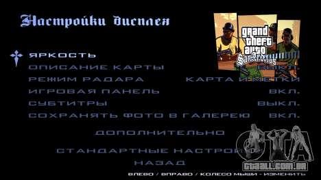 HD tela de carregamento e menu para GTA San Andreas décima primeira imagem de tela