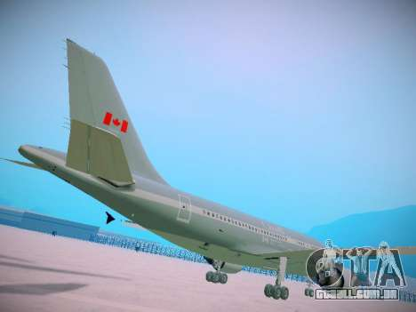 Canadian Forces Airbus CC150 Polaris para GTA San Andreas vista traseira
