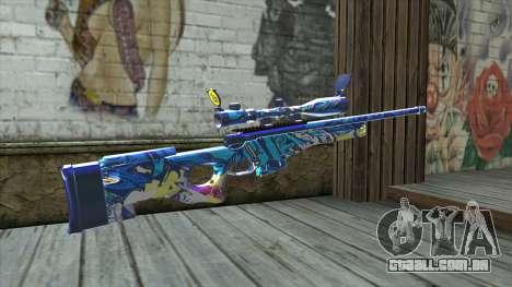 Graffiti Sniper Rifle v2 para GTA San Andreas segunda tela