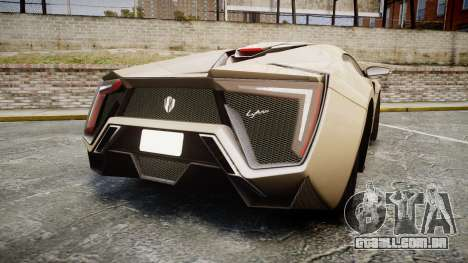 Lykan HyperSport para GTA 4 traseira esquerda vista