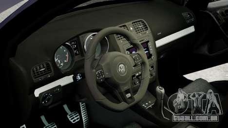 Volkswagen Golf R 2010 Polo WRC Style PJ2 para GTA 4 vista interior