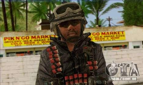 Task Force 141 (CoD: MW 2) Skin 4 para GTA San Andreas terceira tela