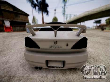 Nissan Silvia S15 para GTA San Andreas vista interior