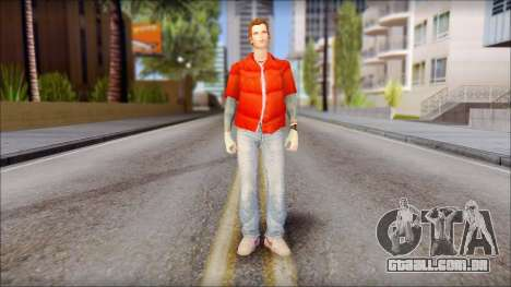 Marty with Vest 1985 para GTA San Andreas