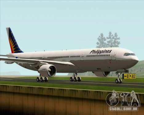 Airbus A330-300 Philippine Airlines para GTA San Andreas esquerda vista