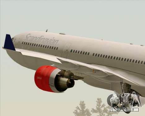 Airbus A330-300 Scandinavian Airlines System. para GTA San Andreas vista inferior