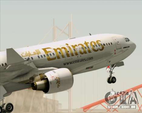 Airbus A330-300 Emirates para as rodas de GTA San Andreas