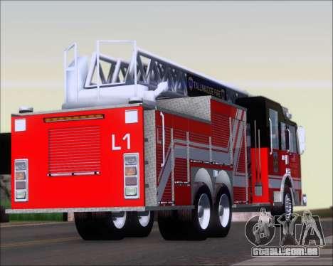 Pierce Arrow XT TFD Ladder 1 para GTA San Andreas vista direita
