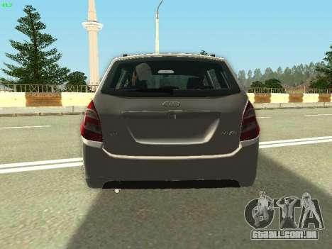 Lada Kalina 2 Vagão para GTA San Andreas vista interior