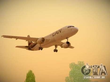 Airbus A320-214 LAN Airlines para GTA San Andreas vista superior