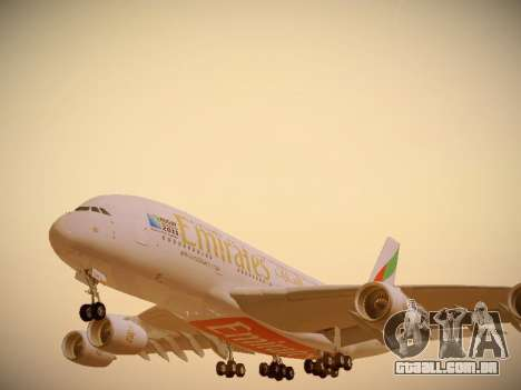 Airbus A380-800 Emirates Rugby World Cup para as rodas de GTA San Andreas
