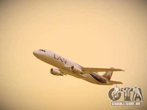 Airbus A320-214 LAN Airlines para vista lateral GTA San Andreas
