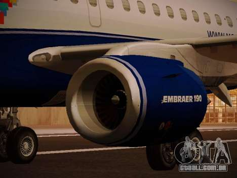 Embraer E190 Azul Brazilian Airlines para o motor de GTA San Andreas