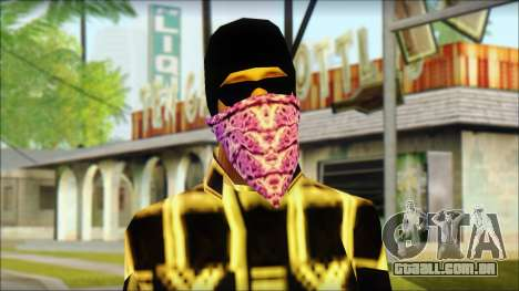 East Side Ballas Skin 3 para GTA San Andreas terceira tela