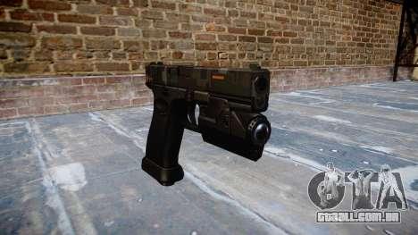 Pistola Glock de 20 ce digital para GTA 4