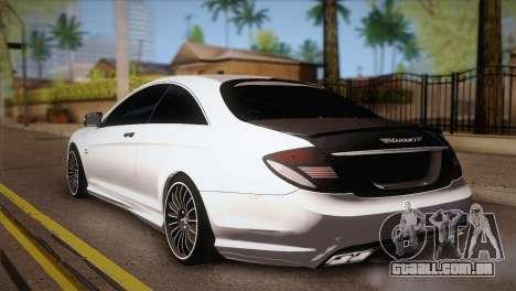 Mercedes-Benz CL63 AMG para GTA San Andreas esquerda vista