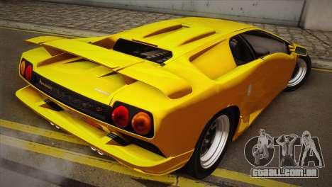 Lamborghini Diablo SV 1997 para GTA San Andreas esquerda vista