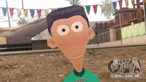 Sheen from Jimmy Neutron para GTA San Andreas terceira tela