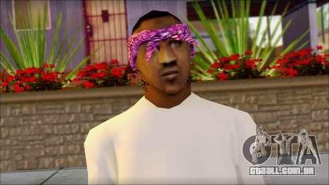 East Side Ballas Skin 1 para GTA San Andreas terceira tela