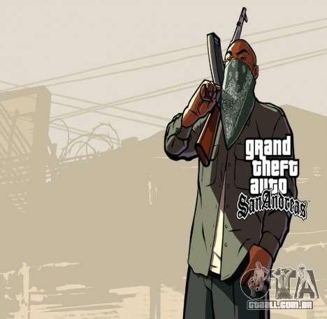 HD tela de carregamento e menu para GTA San Andreas quinto tela