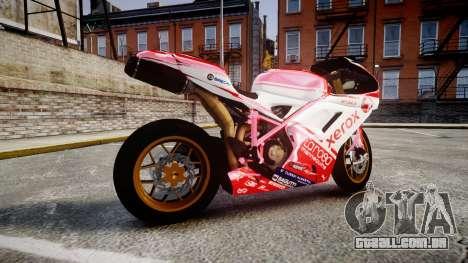 Ducati 1198 R para GTA 4 esquerda vista