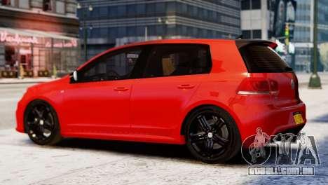 Volkswagen Golf R 2010 Racing Stripes Paintjob para GTA 4 esquerda vista