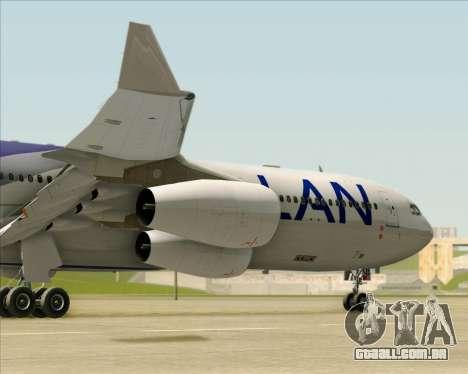 Airbus A340-313 LAN Airlines para GTA San Andreas vista superior