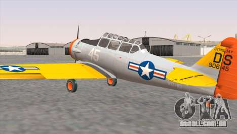 North American T-6 TEXAN N645DS para GTA San Andreas esquerda vista