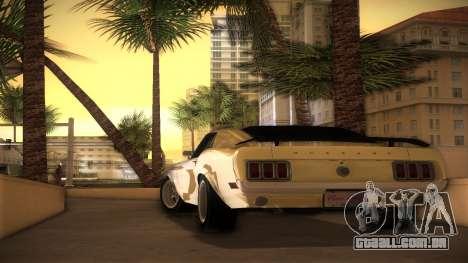 Ford Mustang 492 para GTA Vice City deixou vista