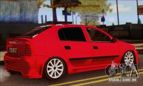 Opel Astra para GTA San Andreas esquerda vista