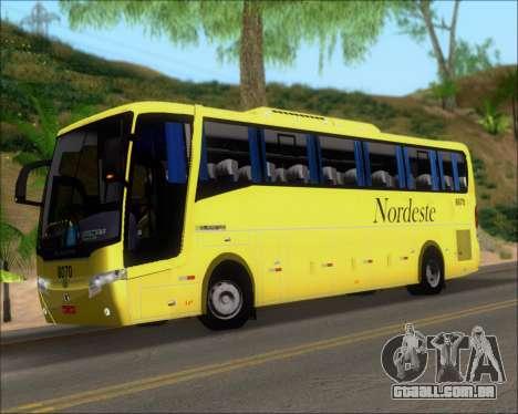Busscar Elegance 360 Viacao Nordeste 8070 para GTA San Andreas interior