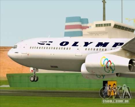 Airbus A340-313 Olympic Airlines para vista lateral GTA San Andreas