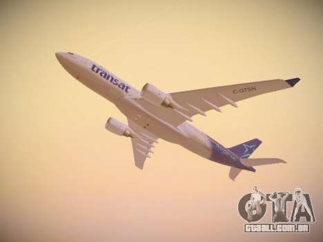 Airbus A330-200 Air Transat para vista lateral GTA San Andreas