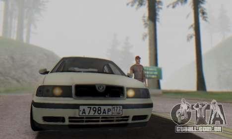 Skoda Octavia para GTA San Andreas vista direita
