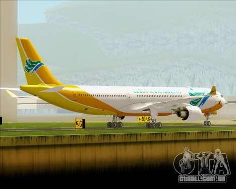 Airbus A330-300 Cebu Pacific Air para GTA San Andreas vista direita