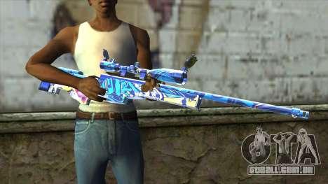 Graffiti Sniper Rifle v2 para GTA San Andreas terceira tela