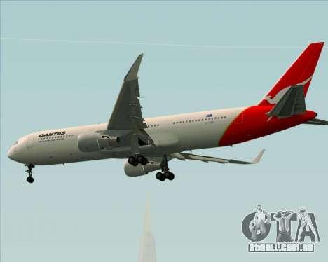 Boeing 767-300ER Qantas para GTA San Andreas vista traseira
