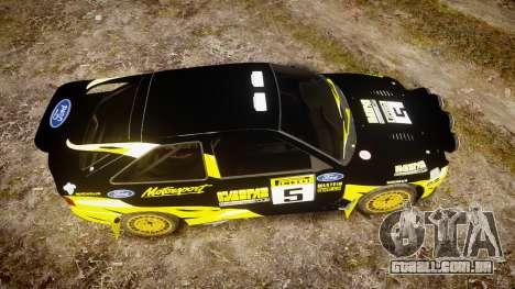 Ford Escort RS Cosworth 2.0 Vespas Team para GTA 4 vista direita