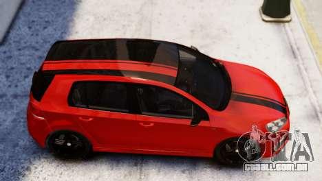 Volkswagen Golf R 2010 Racing Stripes Paintjob para GTA 4 traseira esquerda vista