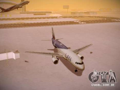 Airbus A320-214 LAN Airlines 80 Years para vista lateral GTA San Andreas
