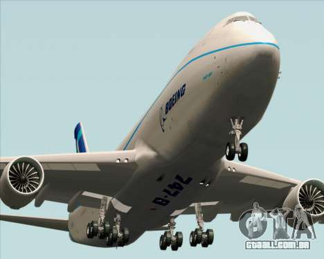 Boeing 747-8 Cargo House Livery para GTA San Andreas vista direita