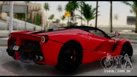 Ferrari LaFerrari 2014 (IVF) para GTA San Andreas esquerda vista