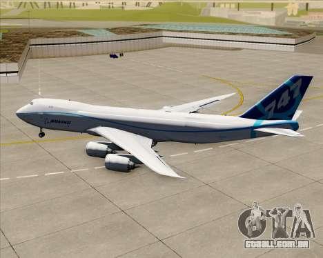 Boeing 747-8 Cargo House Livery para GTA San Andreas vista traseira