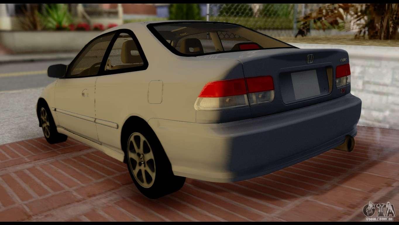 Honda Civic Si 1999 Para GTA San Andreas Esquerda Vista