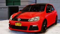 Volkswagen Golf R 2010 Racing Stripes Paintjob para GTA 4