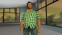 Kockas polo - zold T-Shirt para GTA Vice City