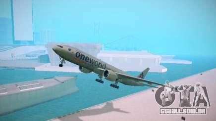 Boeing 777-223ER American Silver Bullet para GTA San Andreas