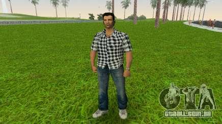 Kockas polo - fekete T-Shirt para GTA Vice City