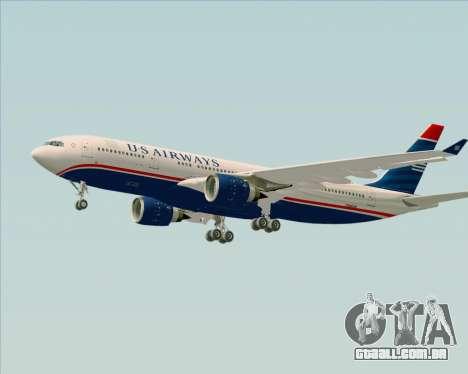 Airbus A330-200 US Airways para GTA San Andreas vista inferior